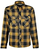 Brandit Checkshirt Langarmhemd schwarz/gelb L