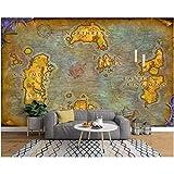 Fototapete Benutzerdefinierte 3D-Wandbilder Europäische alte Karte online World of Warcraft Hintergrund Wandkarte Tapetendekoration,Größe:250X175CM