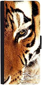 Snoogg Tiger 22Designer Protective Flip Case Cover For Samsung Galaxy Ace 3