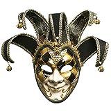 Máscara de Halloween Mascarada de los Hombres Novedad Mascarilla Completa Retro Venecia Fiesta de Carnaval de Halloween Máscara