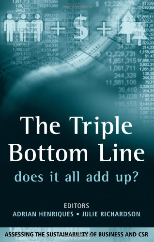 The Triple Bottom Line: Does It All Add Up: Does It All Add Up? - Assessing the Sustainability of Business and CSR