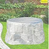 Confort Housse de protection pour table ovale 160cm, meubles Coque Transparent