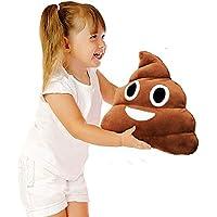 GSY Poop Forma Almohada Cojín de Peluche de Juguete de Felpa, Almohada Suave Cojín Grande Emoticono Amarillo Almohada, Poop Emoji