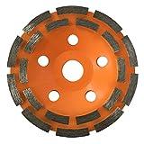 GraniFix® Diamant Topfschleifer Ø 125 mm Schleiftopf Schleifteller Topfscheibe Zweireihig für Beton, Stein, Mauerwerk, Estrich