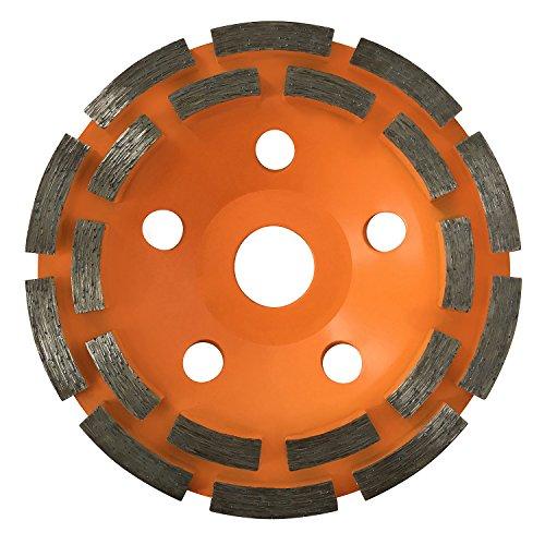 GraniFix® Disque Diamant à meuler Surfaçage Ø 125 mm à 2 rangées segmentées pour béton, pierre, maçonnerie, chape