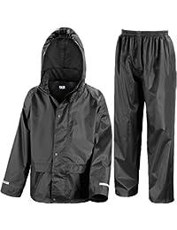 b98309170b9 Kids Waterproof Jacket   Trousers Suit in Black