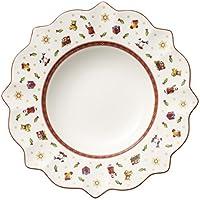 Villeroy & Boch Toy's Delight Suppenteller, 26 cm, Premium Porzellan, Weiß/Rot