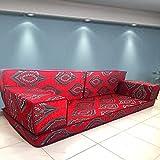 Majlis árabe hecho a mano Piso sofá, árabe Jalsa, suelo