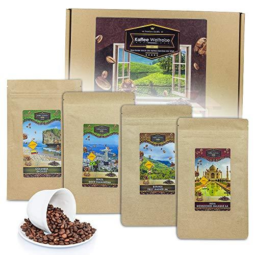 Monsterzeug Box mit internationalen Kaffeesorten, Koffeinhaltige Weltreise Geschenkset, Geschnkbox...
