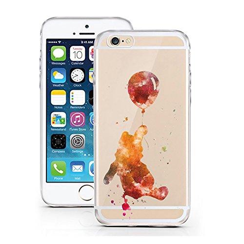 iPhone 5 5S SE Hülle von licaso® für das Apple iPhone 5S aus TPU Silikon Meerjungfrau Aquarell Mermaid Wasser Ozean Fisch Comic Muster ultra-dünn schützt Dein iPhone SE & ist stylisch Schutzhülle Bump Bär Luftballon Aquarell