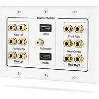 Fosmon Hd8005[au Design innovant 6.1Surround de Distribution] Home Cinéma en cuivre Banana Binding Post