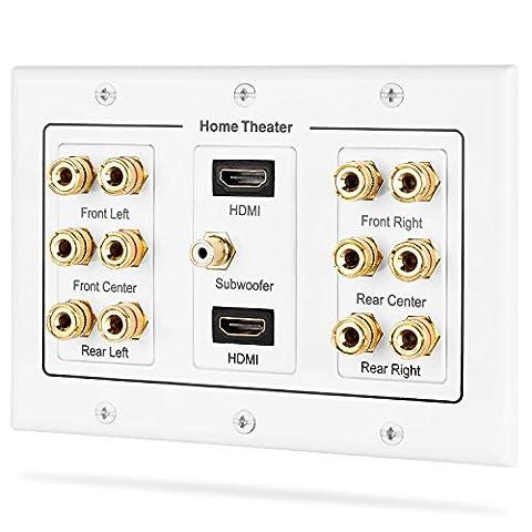 Fosmon HD8005 [3-Gang 6.1 Surround Distribution] Home Theater Copper Banana