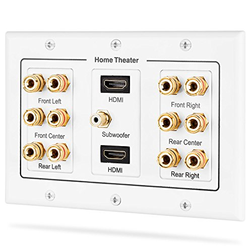 fosmon-3-gang-61-surround-distribution-home-theater-wall-plate-premium-quality-gold-plated-copper-ba