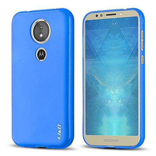 JundD Moto E5 Hülle, [Leichtgewichtig] [Fallschutz] Stoßfest TPU Slim Hülle für Motorola Moto E5 - [Nicht kompatibel mit Moto E5 Plus] - Blau