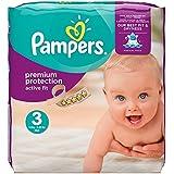 Pampers - Active Fit - Couches Taille 3- Pack économique 1 mois de consommation (x204 couches)