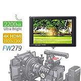 Feelworld FW279 7 Pollici Ultra Luminoso On Camera DSLR Field Monitor Full HD Focus Video Assist 1920x1200 IPS con 4K HDMI Input Output 2200nit Alta Luminosità