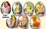 Ostereier Schrumpffolie. ENGEL MÄDCHEN. - für 7 Eier. Ostereier Farbe