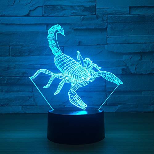 Laofan Scorpion 3D Led USB Lampe 7 Farben Nachtlicht Kinder Schlafzimmer Dekoration Tischlampe,Bluetooth-Lautsprecher