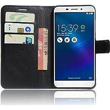OFU® Para LG K8 2017 Funda,Dual Layer PU And TPU Hybrid Card Carry Pocket Wallet Slot,Cartera Cuero Funda de Piel Wallet Case para LG K8 2017 Carcasa Flip Case Cover con Función Soporte(negro)