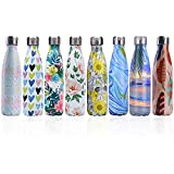 Bottiglia a Doppia Parete in Acciaio Inox con Isolamento Sottovuoto per Bevande Fredde per Bambini Bottiglia di Acqua Calda Senza BPA Minkoll Borraccia Sportiva