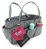 Periea Handtaschen-Organizer Schwarz mit silber Streifen -Tilly