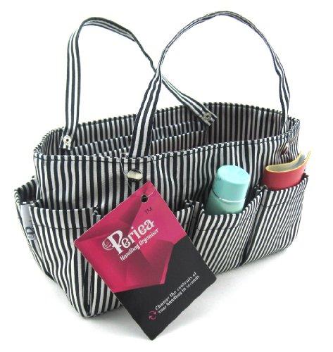 Organizer Schwarz Handtaschen (Periea Handtaschen-Organizer Schwarz mit silber Streifen -Tilly)