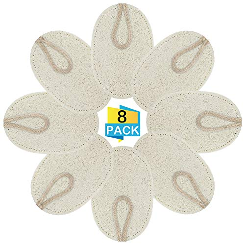Datyeco 8 Stück Luffa Schwamm, Geschirr Spül Schwämme, Luffa-Schwamm, Natur Geschirr Schwamm für Küche Geschirr Reinigung, Geschirrspülen Spülschwamm Luffa Schwammwäscher für Küchenreinigung