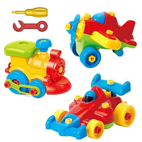 Juguetes con piezas removibles - Avión de juguete - Tren de juguete -