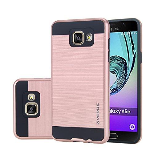 Futypei Samsung Galaxy A5 (2016) A510 Hülle Weiche Silikon Bumper Cover Glitzern Handyhülle Kratzfest Stoßfest Schutzhülle Case Glitter Bling Handytasche Slim Etui Silikon Case Rose Gold