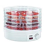 Livoo DOM202 Voedsel   5 platen   Temperatuur verstelbaar   Voedseldroger groenten en fruit, 250 W, wit