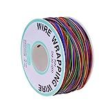 YoungRich Cable de Prueba de Aislamiento de 280 m Wrapping Cable de Cobre Estañado 30AWG 8 Colores para Placa Base Portátil Prueba Electrónica