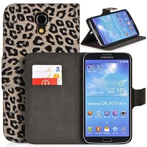 DONZO Wallet Wild Tasche für Samsung Galaxy Mega 6.3 I9200 I9205 Schwarz
