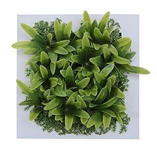 3D Wandhalter Künstliche Blume Metope Kunstpflanze in Quadrat Holzrahmen für Wanddekorationen 5,91 * 5,91 Zoll