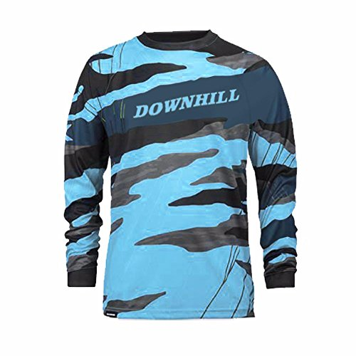 Uglyfrog Bike Wear Atmungsaktiv Trendy Herren Downhill/MTB Jersey Mountain Bike Shirt Fahrradtrikot Langarm Freeride BMX Frühling Top MF10