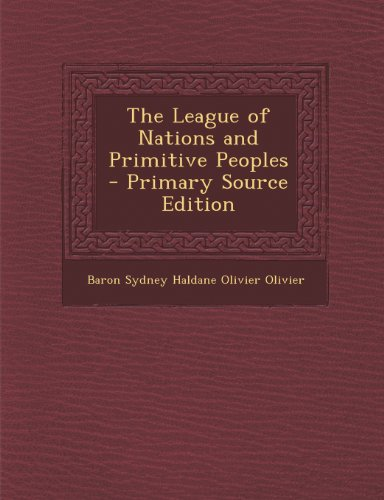 League of Nations and Primitive Peoples