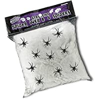 Ragnatela gigante bianca grammi 500 con ragni decorazione Halloween 33aeb29912cc