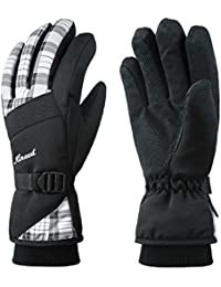 KINEED Ski Gloves Women Waterproof Warm Winter Snow Skiing Snowboarding Cycling Thinsulate Thermal Gloves