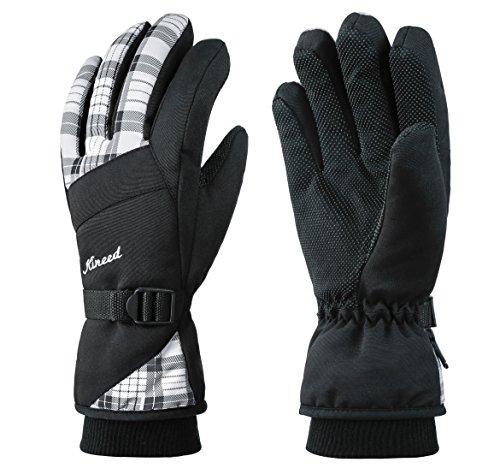Kineed Skihandschuhe Damen Warm Winter Wasserdicht Snowboardhandschuhe Fahrrad Thermisch Thinsulate Handschuhe