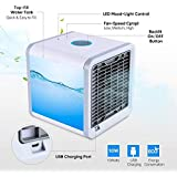 ALLWIN CZ Cool Zone Air Portable Cooler 3 in 1 Conditioner Humidifier Purifier Mini Cooler for Home,Room,Air cooler Easy Way to Cool Any Space.With Side LED Colored Light. Standard color White