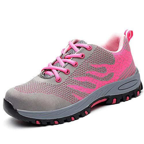 Stahlkappen Schuhe Frauen leichte S3 Arbeitsschuhe Damen Herren Trittschutz Sicherheitsschuhe Durchdringungskraft verhindern 1200N