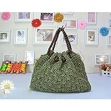 MOXIN Bolsa tejida - Bolso de la playa del Crochet de las mujeres, bolso de