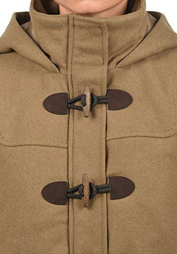 DESIRES Penna Damen Winter Jacke Parka Mantel Dufflecoat mit Stehkragen und Kapuze, Größe:S, Farbe:Sepia (5075) - 4
