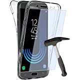 Coque Gel Samsung Galaxy J5 2017 , Buyus Coque 360 Degres Protection INTEGRAL avec VERRE TREMPE Ecran , Etui Ultra Mince Transparent INVISIBLE pour Samsung Galaxy J5 Edition 2017 , Coque Galaxy J5 (2017) J530