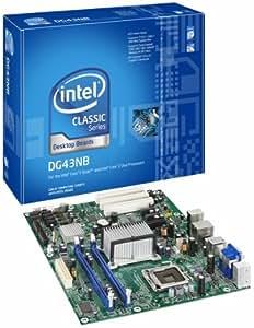 Intel Desktop Board DG43NB Carte-mère ATX iG43 LGA775 Socket UDMA100, Serial ATA-300 Gigabit Ethernet FireWire vidéo audio haute définition (6 canaux)