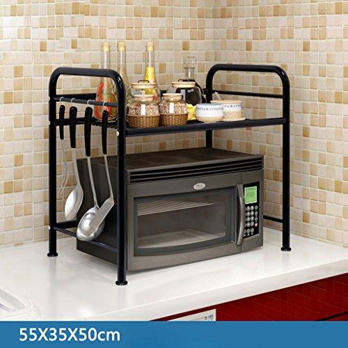 HWF Etagères de cuisine Support de four à micro-ondes Rack multifonction pour étagère de cuisine ( taille : De 55 cm )