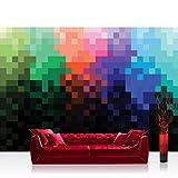 Vlies Fototapete 416x254cm PREMIUM PLUS Wand Foto Tapete Wand Bild Vliestapete - Kunst Tapete Pixel Punkte Farben Kunst Abstrakt bunt - no. 2113