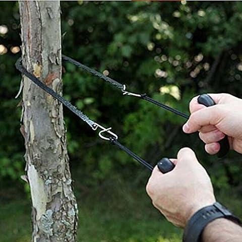 HuntGold 1X Sierra de cadena de supervivencia emergencia Gear Kit de senderismo bolsillo para herramientas de sierra de cadena de