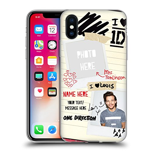 Cover Personalizzata Personale One Direction 1D Harry 4ever I Ship Us Cover Morbida In Gel Per Apple iPhone X Mrs. Tomlinson
