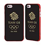 Official Team GB British Olympic Association EST Gold on Black Logo Red Fender Case for iPhone 6 Plus/iPhone 6s Plus
