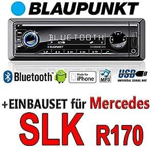 Mercedes SLK R170 - BLAUPUNKT Brisbane 230 - MP3/USB Autoradio inkl. Bluetooth - Einbauset